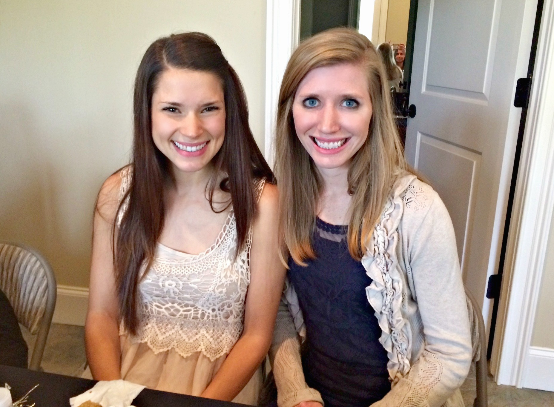 alex and emily at bridal shower