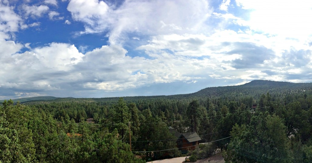 balcony view pine arizona
