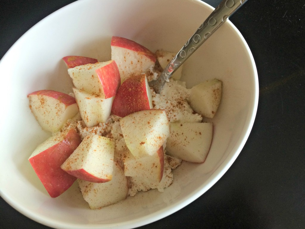cottage cheese apples and cinnamon