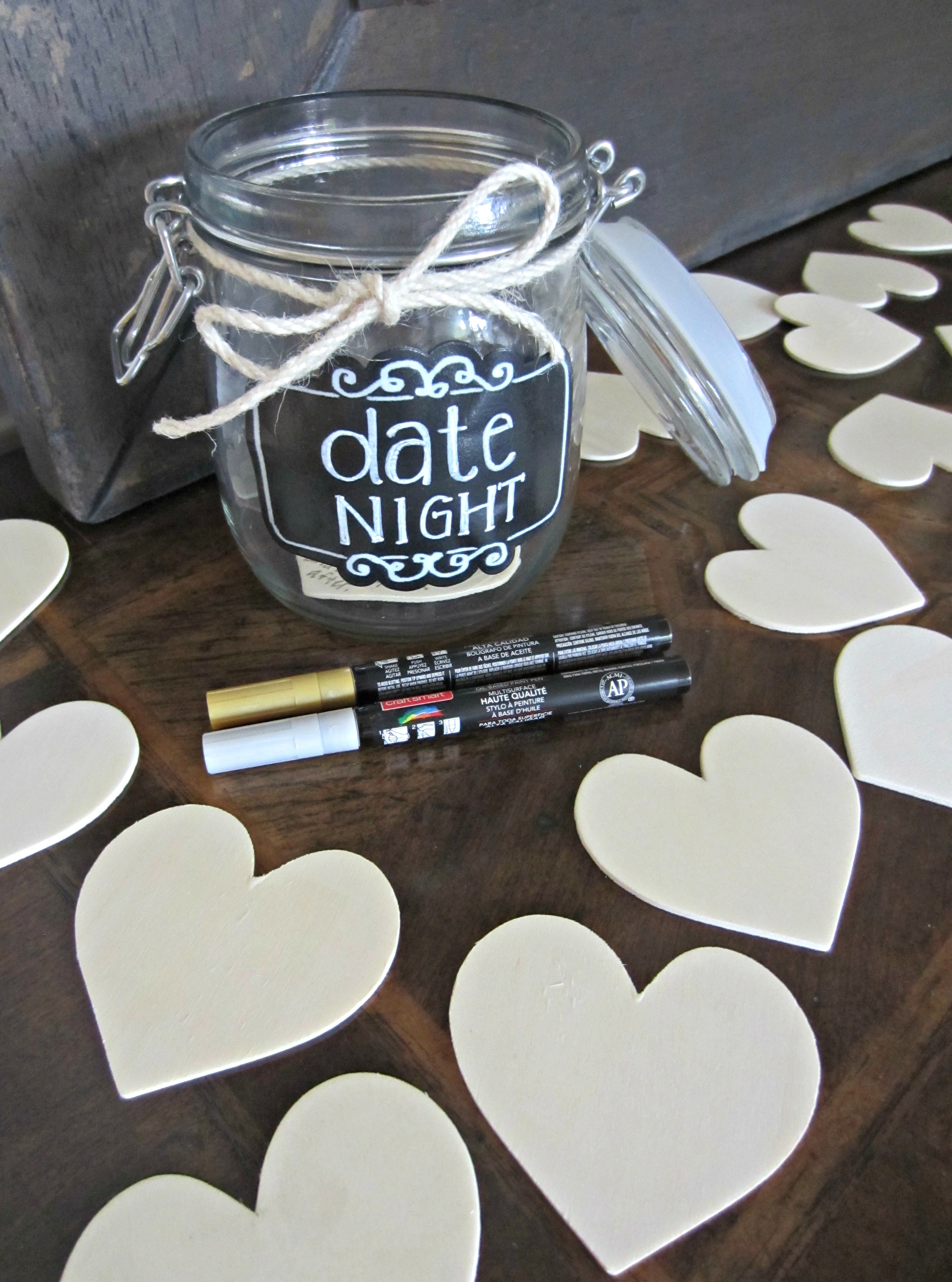 date night idea jar for bridal shower