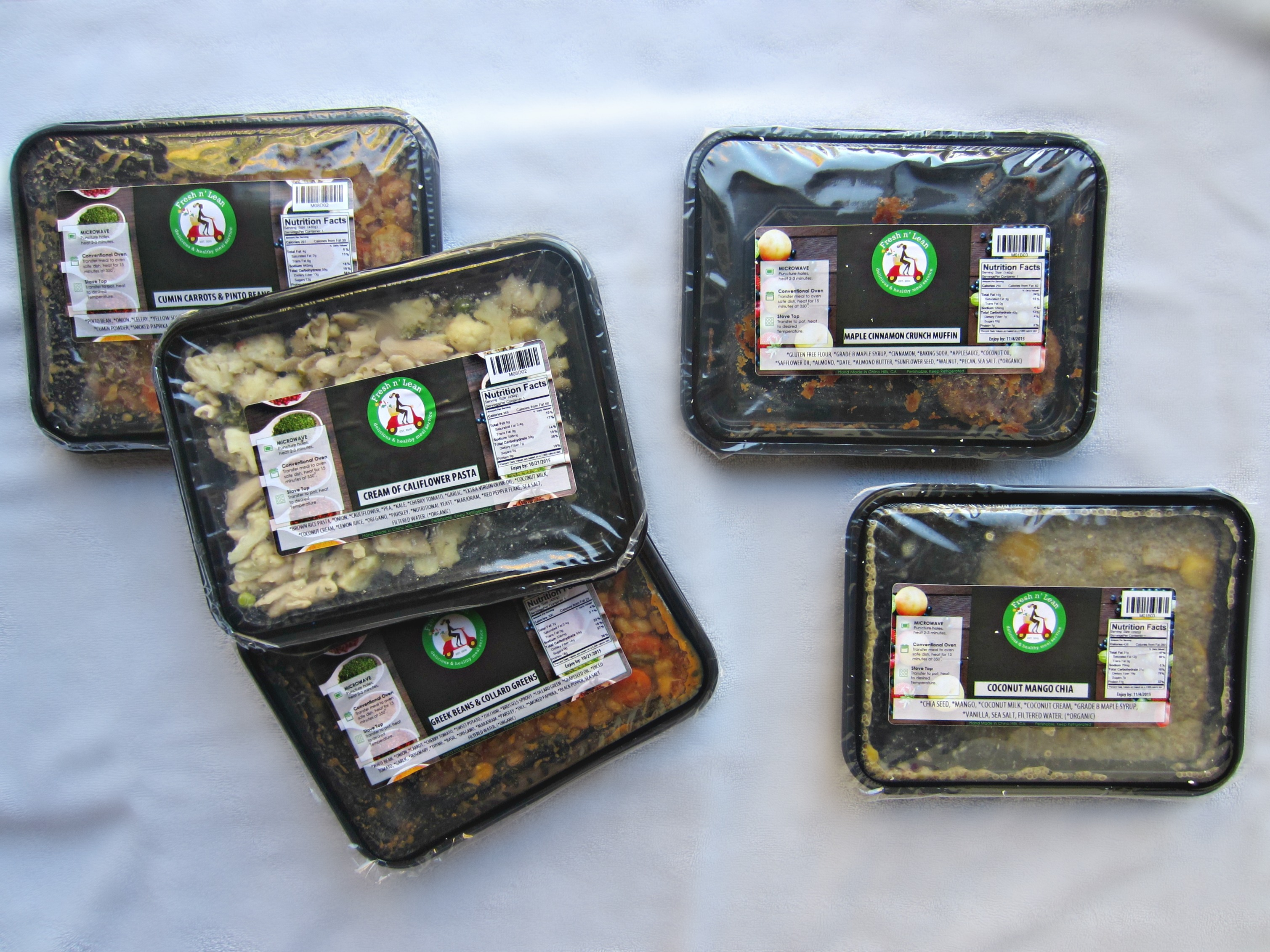 fresh 'n lean organic meal delivery service