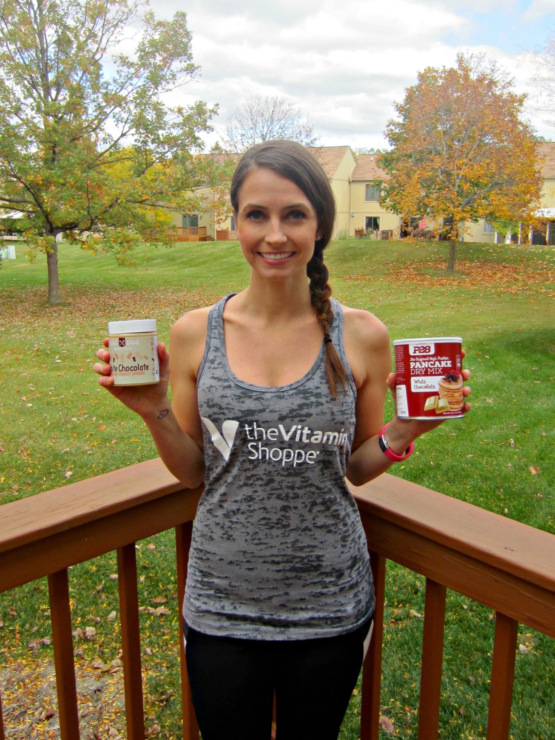 heather opening the #proteinpantry from vitamin shoppe