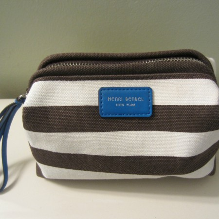 henry blendel signature stripe makeup bag