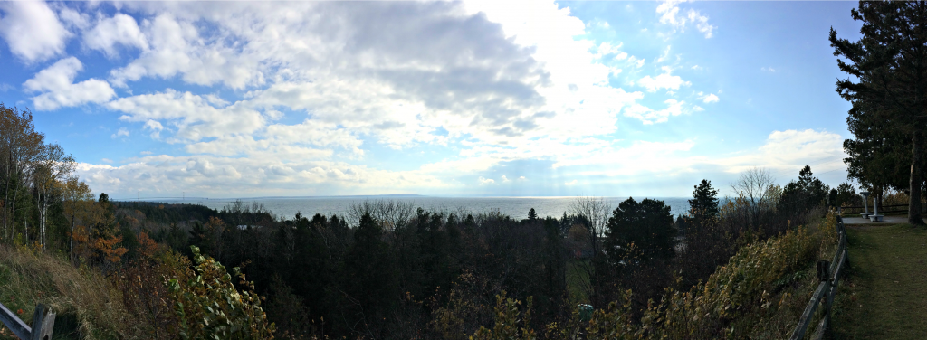mackinac bridge from upper peninsula