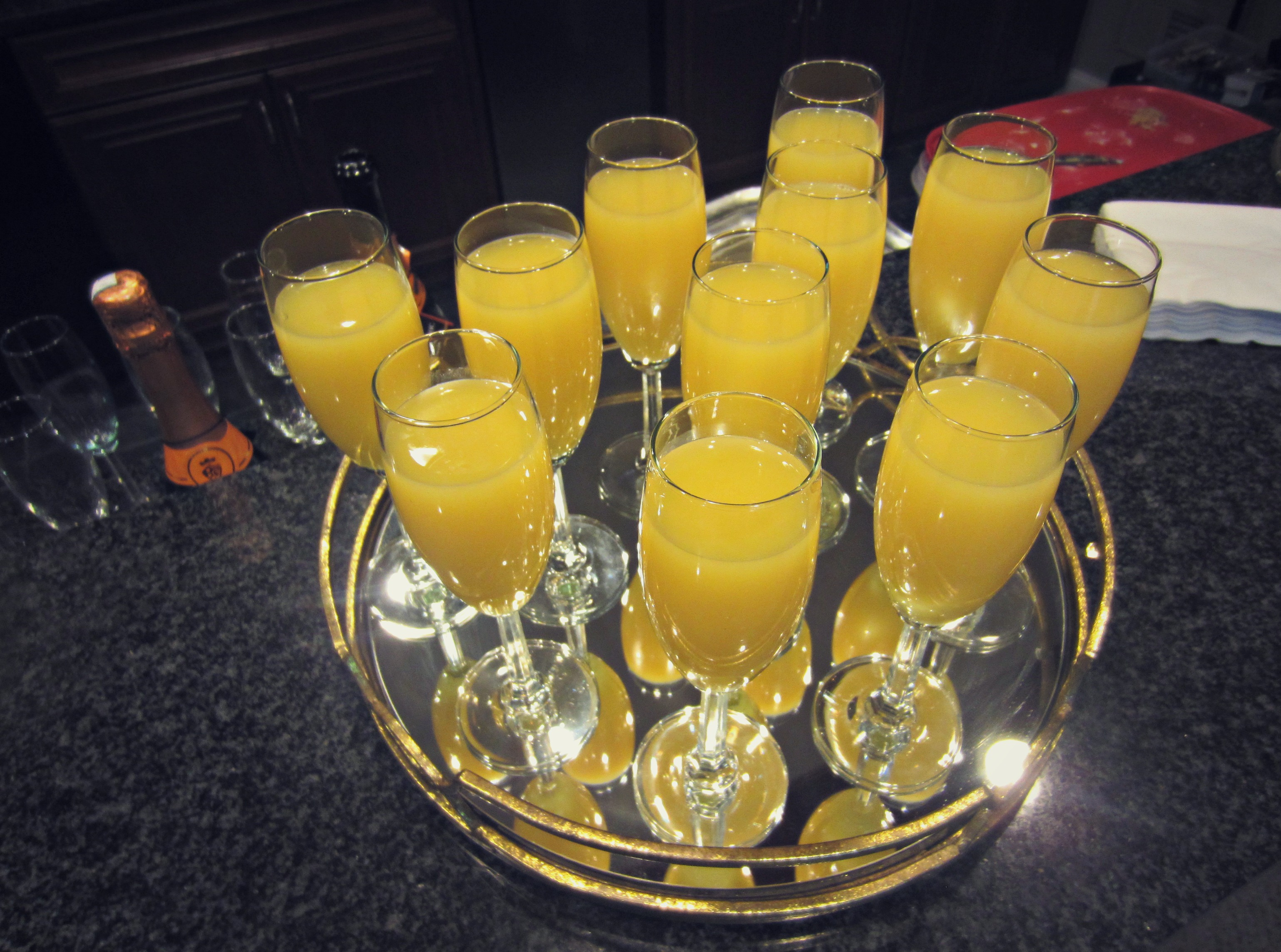mimosas for bridal shower