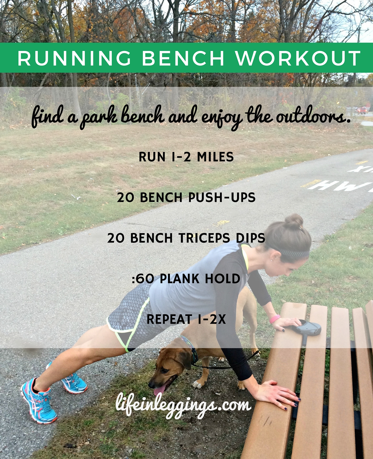 running park bench workout