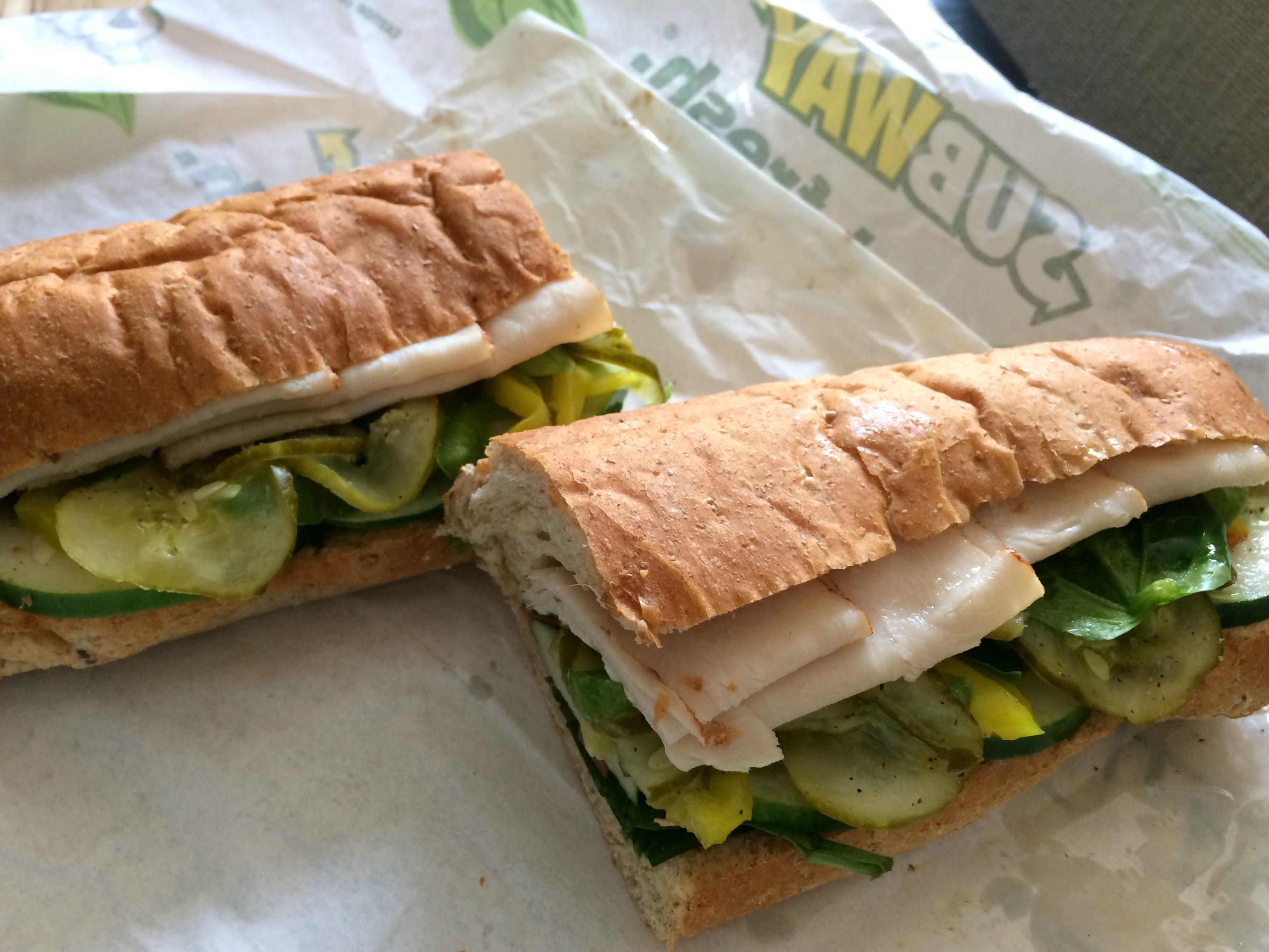subway healthy sandwich