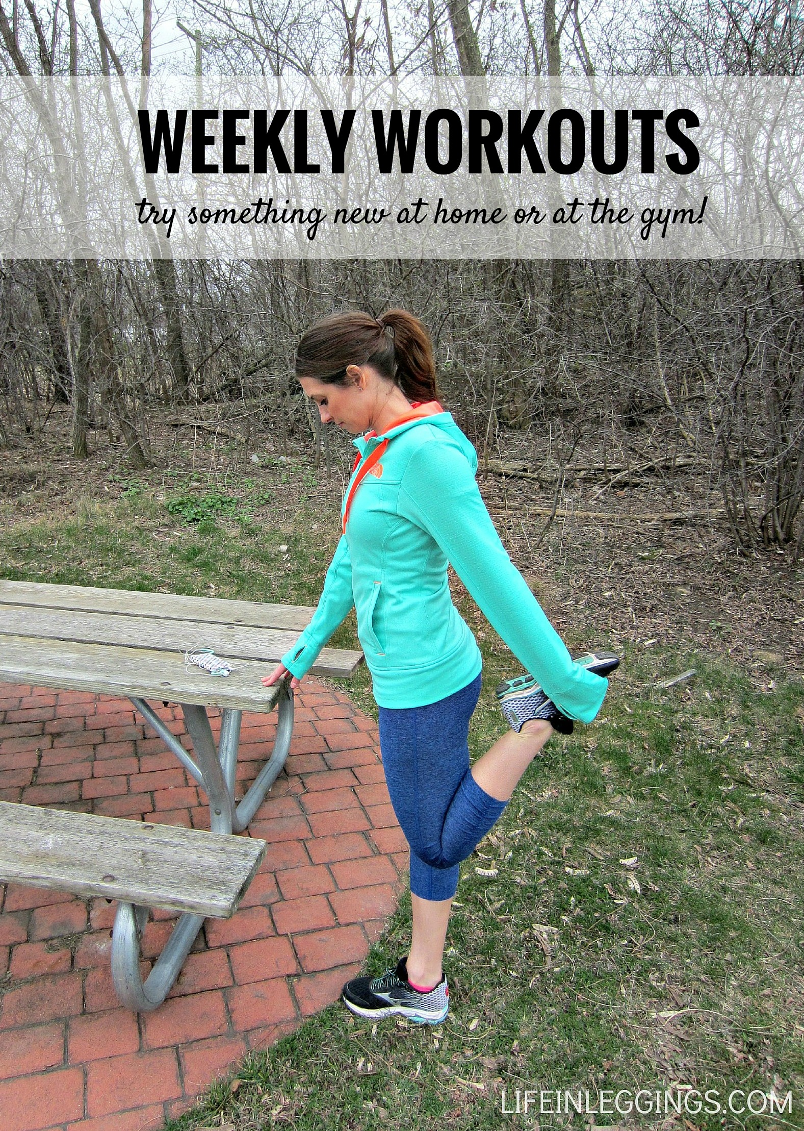 weekly workouts - try something new at home or at the gym