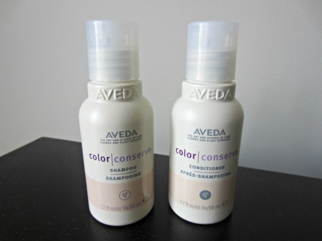 Aveda color conserve shampoo and conditioner