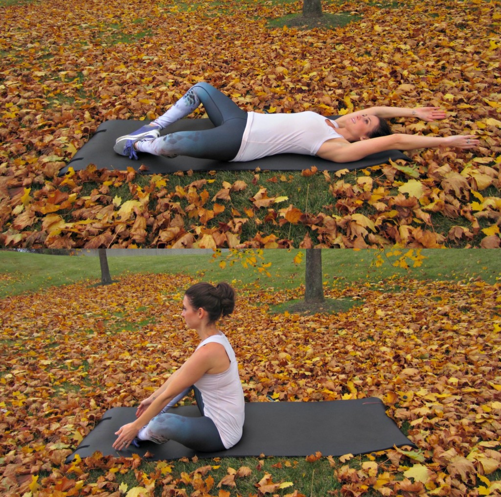 Butterfly sit-ups or diamond sit-ups