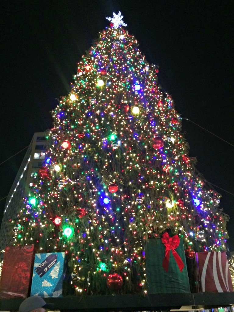 Campus Martius Christmas Tree Lighting Detroit
