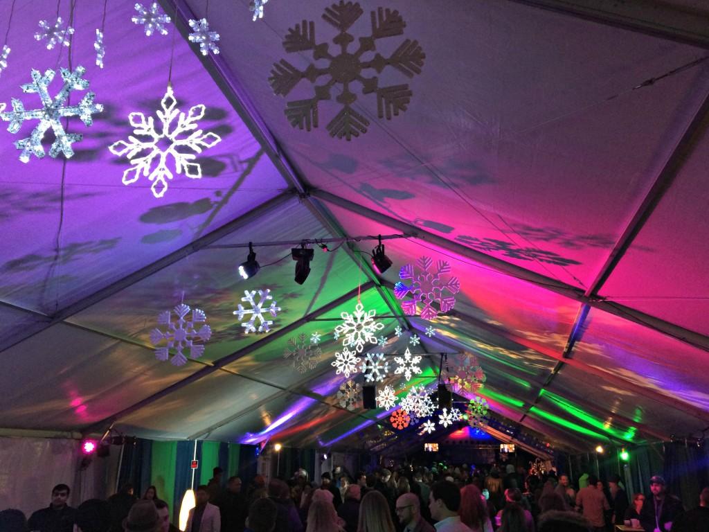 Campus Martius christmas tents