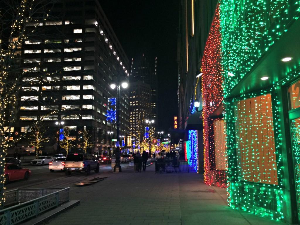 Detroit christmas lights
