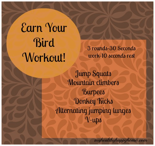 Earn Your Bird Thanksgiving Day Workout