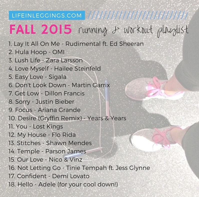 New (Fall) Workout Music For Your Next Workout