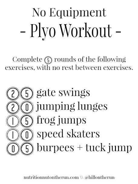 No Equipment Plyo Workout - Nutrition Nut On the Run