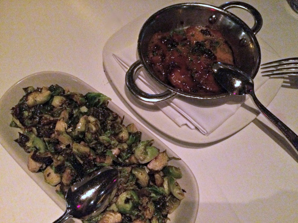 Roast Brussels Sprouts and Sweet Potatoes