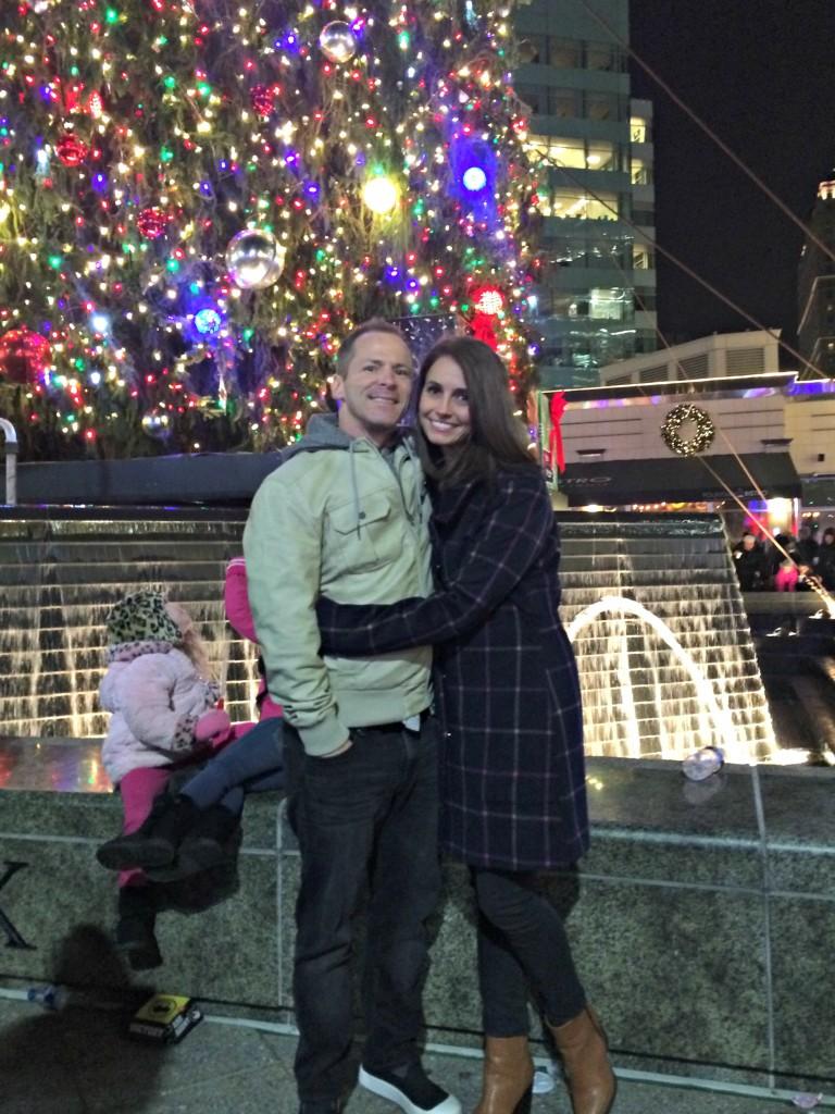 Scott and Heather Detroit Tree Lighting