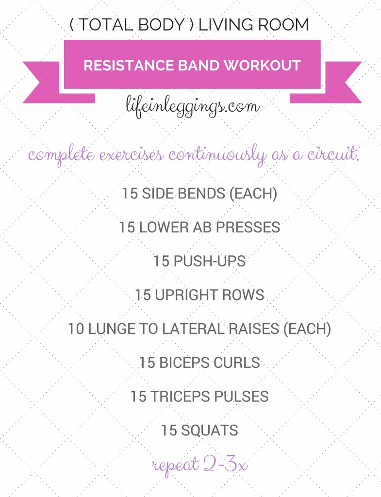 Total Body Living Room Resistance Band Workout