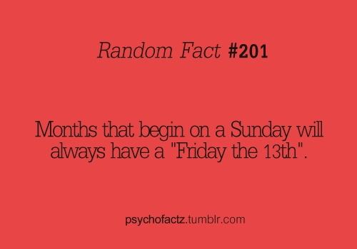 friday the 13th random fact