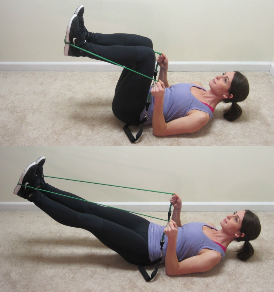 lower ab presses with resistance band