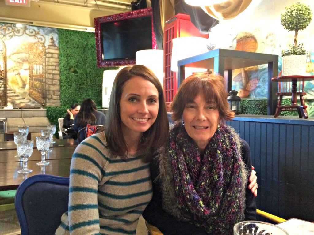 mom and i at mad hatter bistro