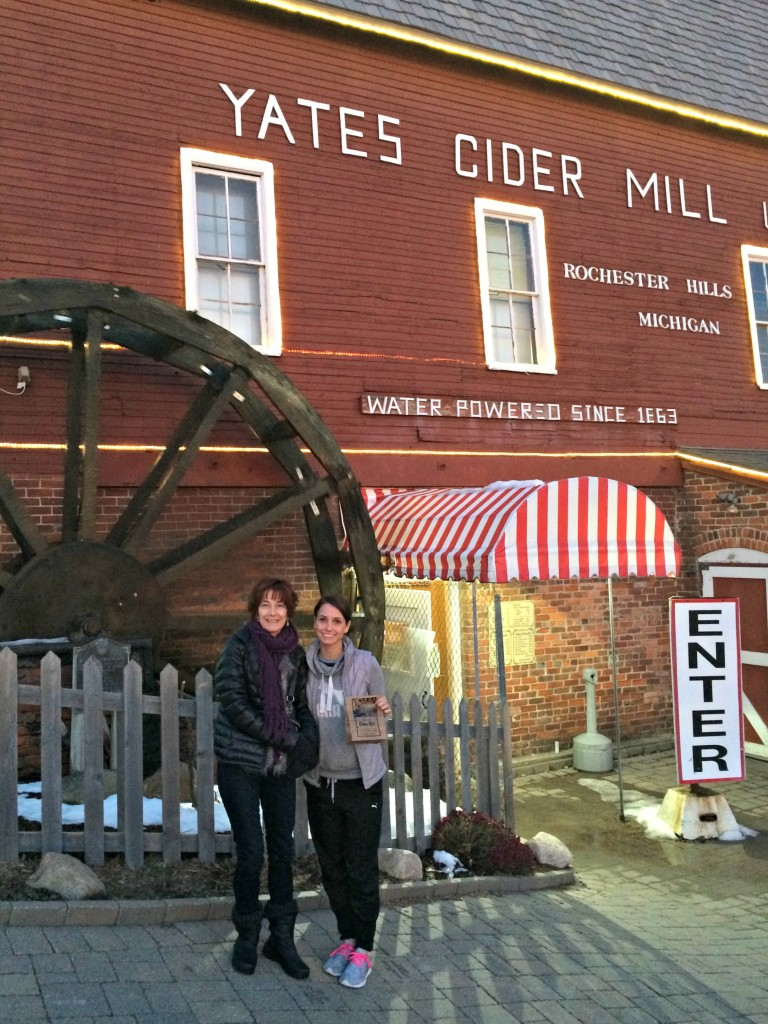 mom and i at yates cider mill