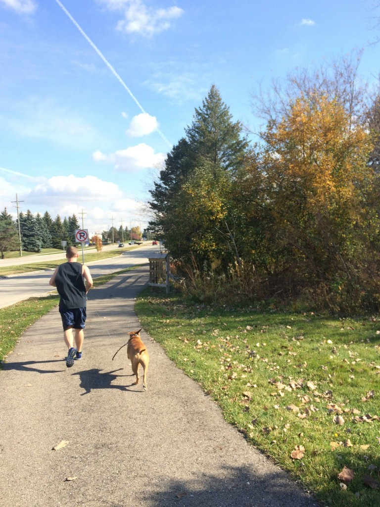 running with scott and roadie
