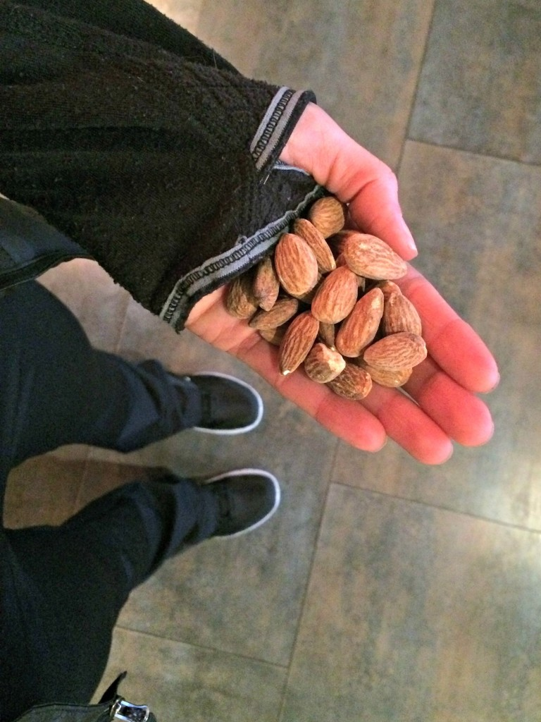sea salt almonds healthy snack