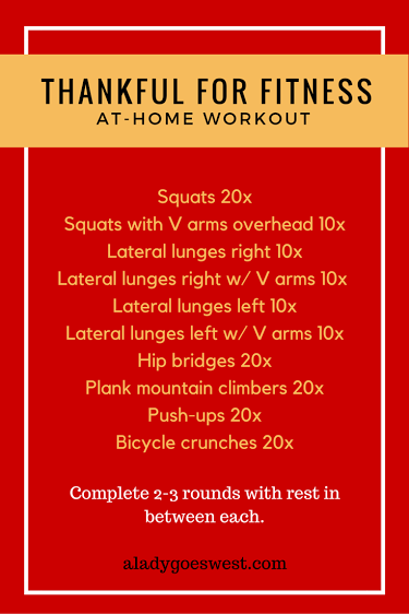 thankful for fitness at home workout - aladygoeswest