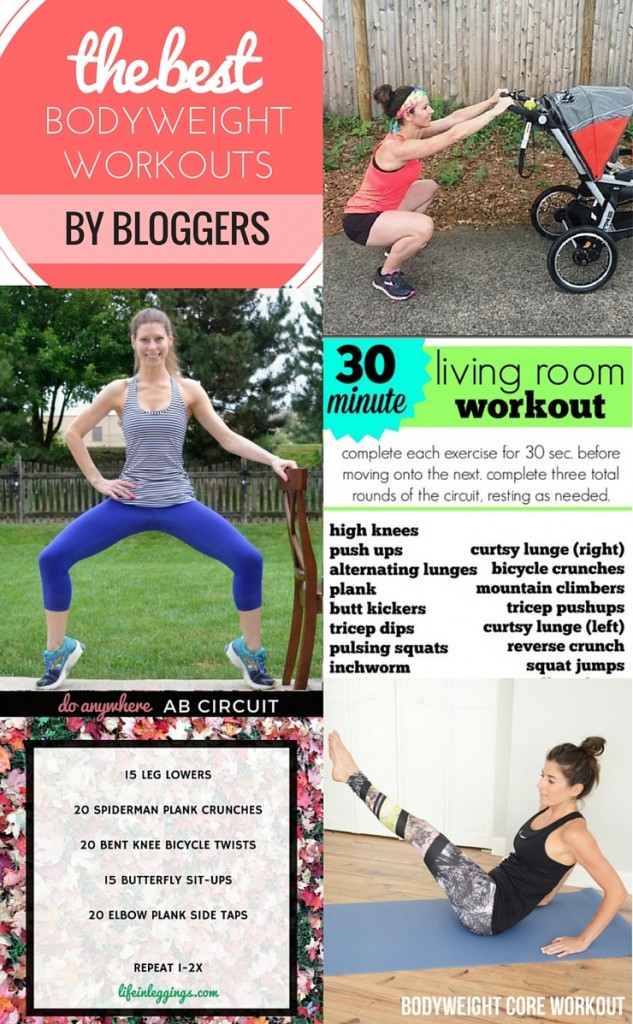 the best bodyweight workouts by bloggers