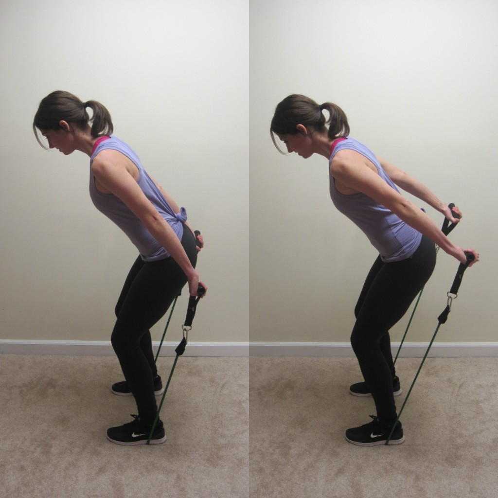 triceps pulses with resistance band