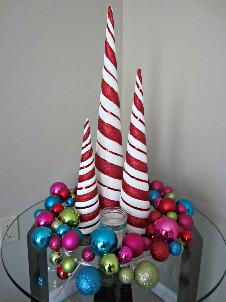 Candy Cane trees and Christmas decorations