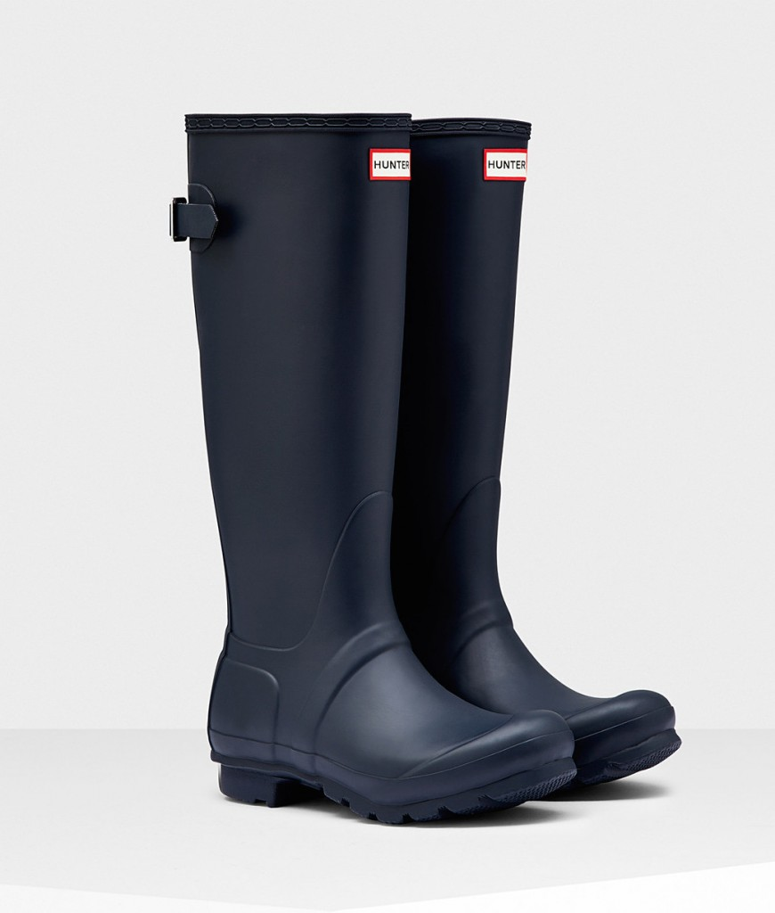 Hunter boots - navy