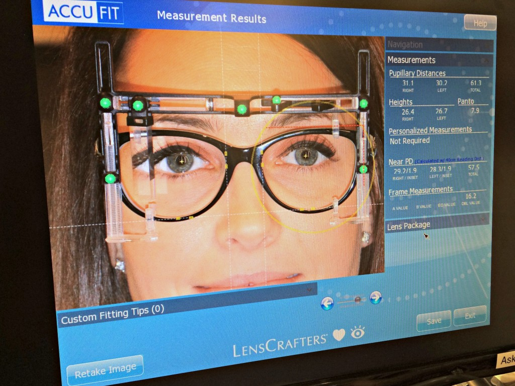 LensCrafters AccuFit techology
