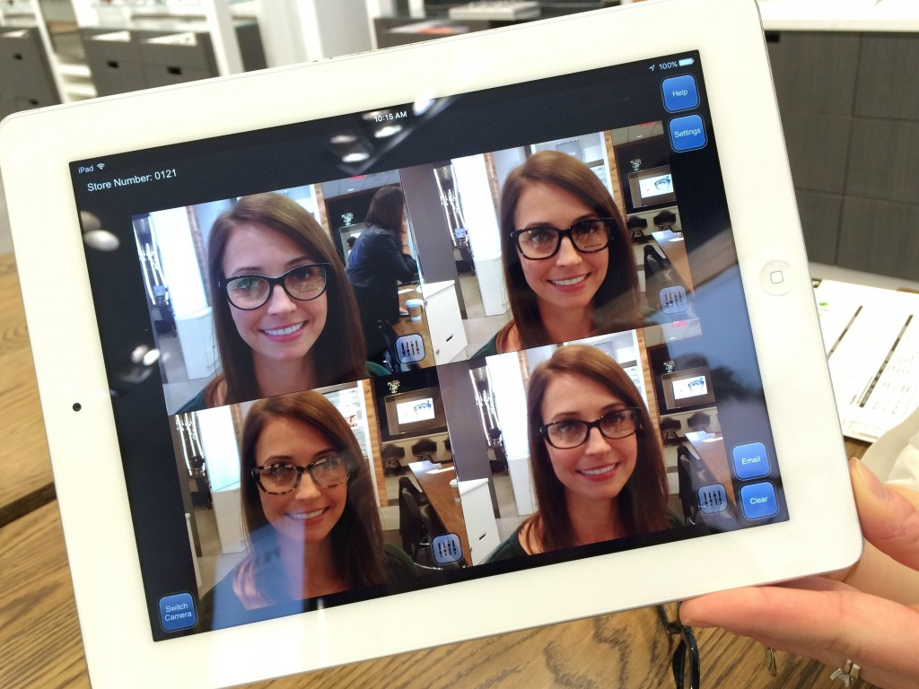 LensCrafters glasses camera app