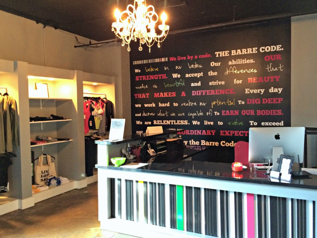 The Barre Code - Birmingham lobby