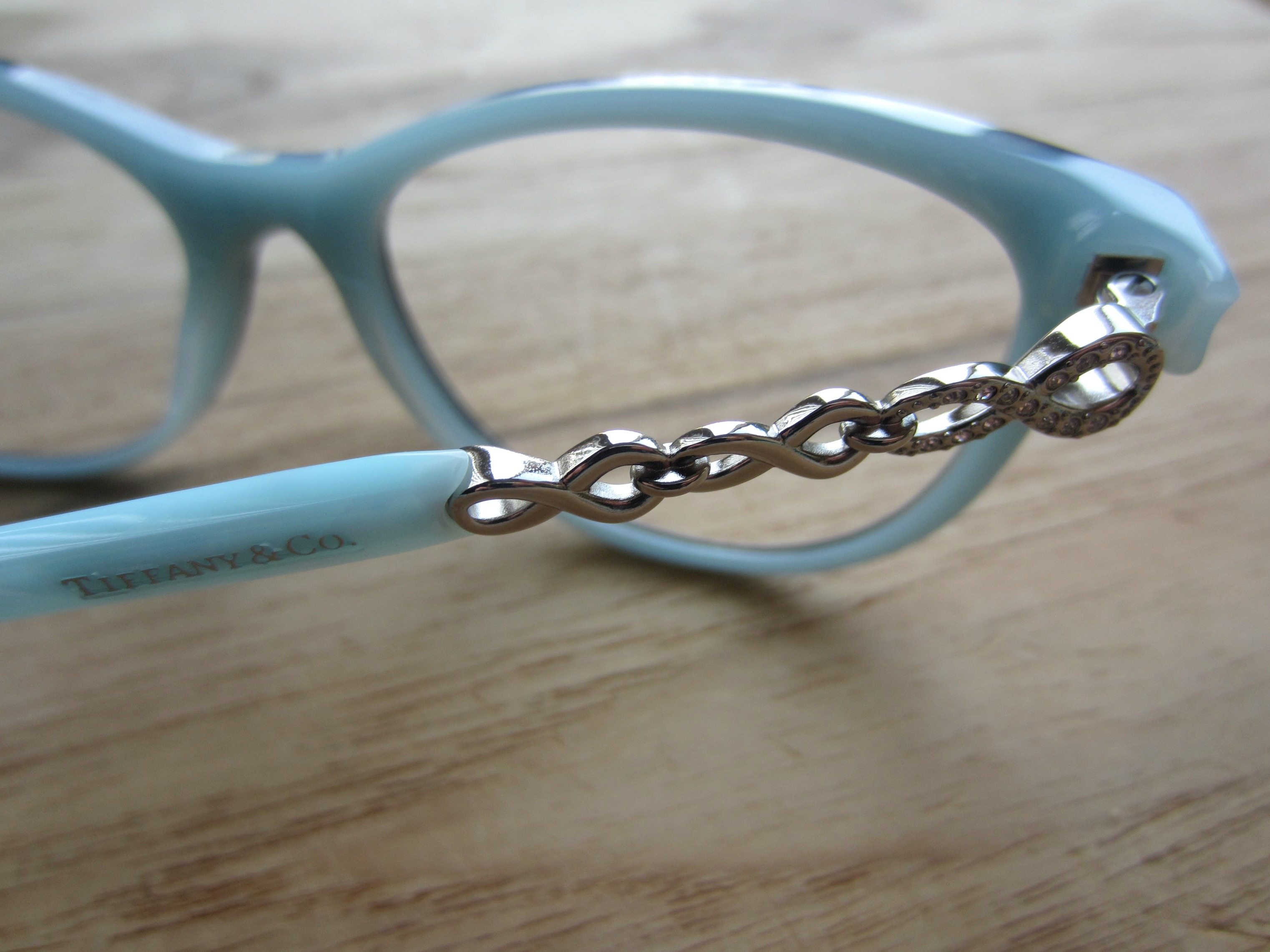 Tiffany & Co. glasses details