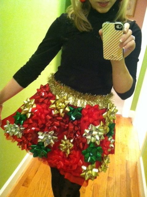 christmas skirt life hack