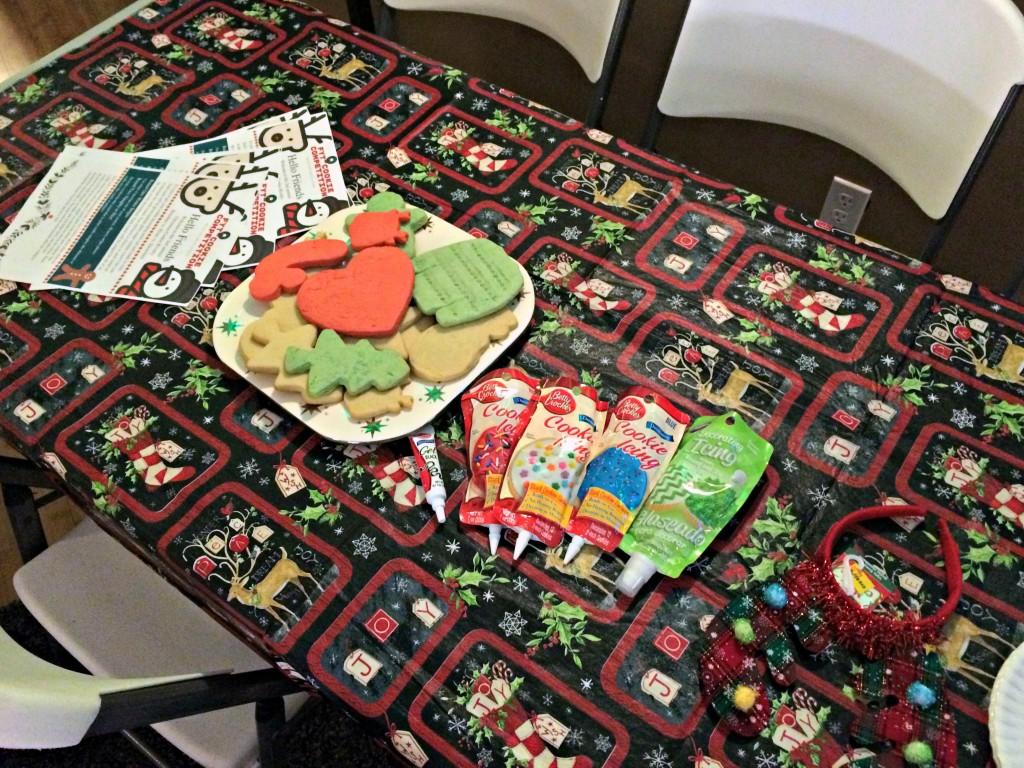 cookie party decorating station