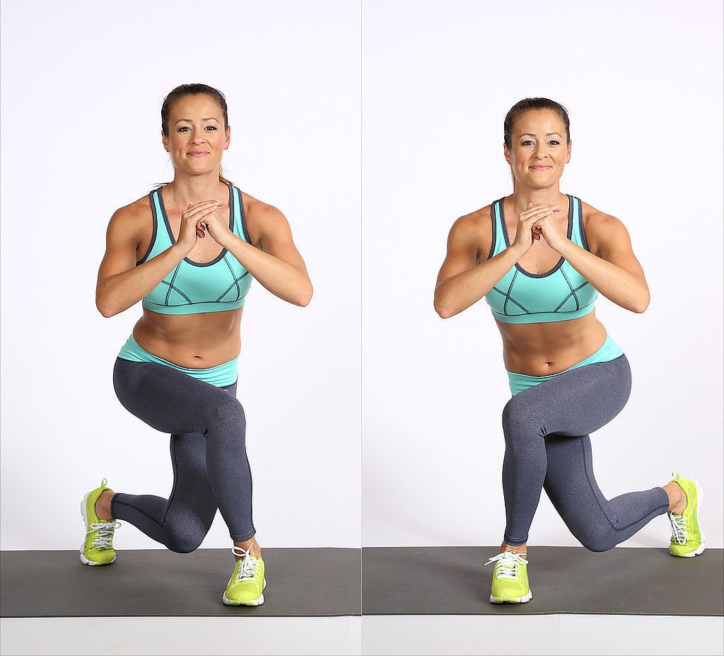 curtsey lunge exercise