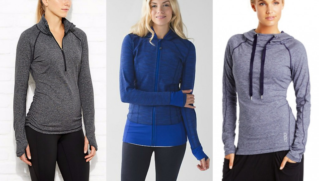 fitness jackets and pullovers