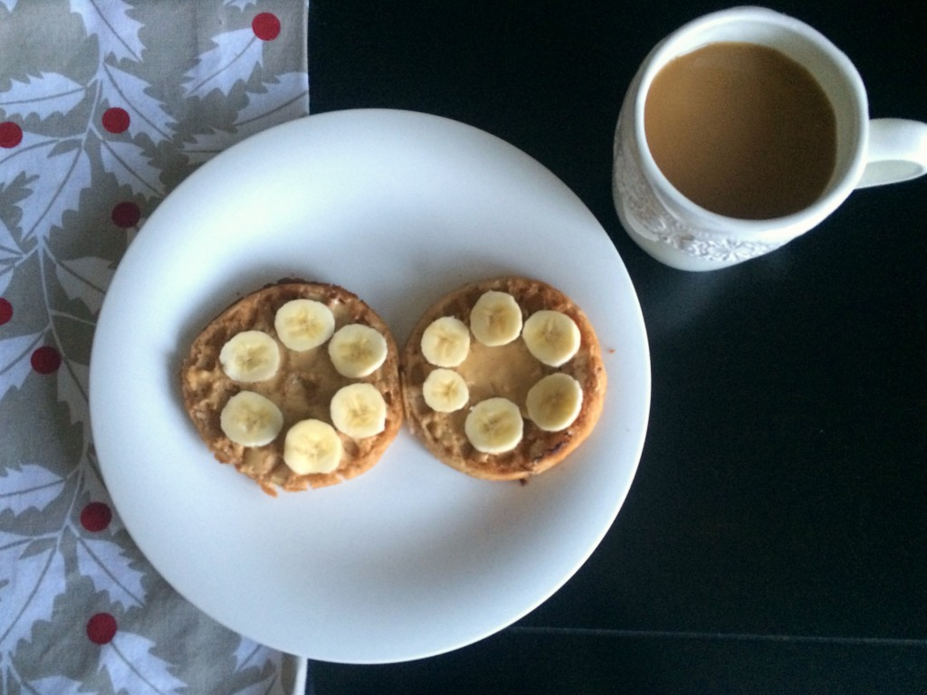 gluten free waffles with protein peanut butter