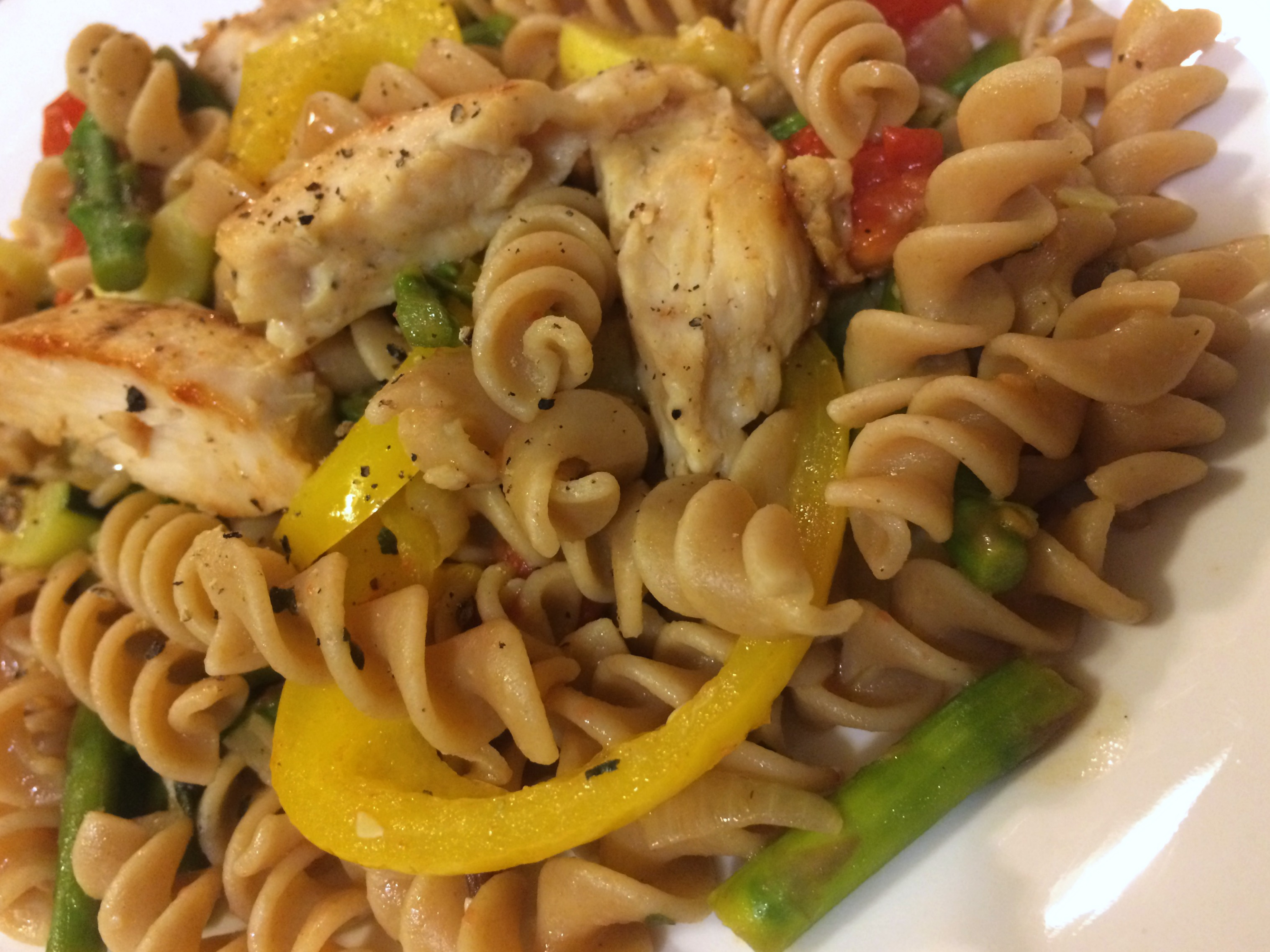 healthy pasta recipe with vegetables