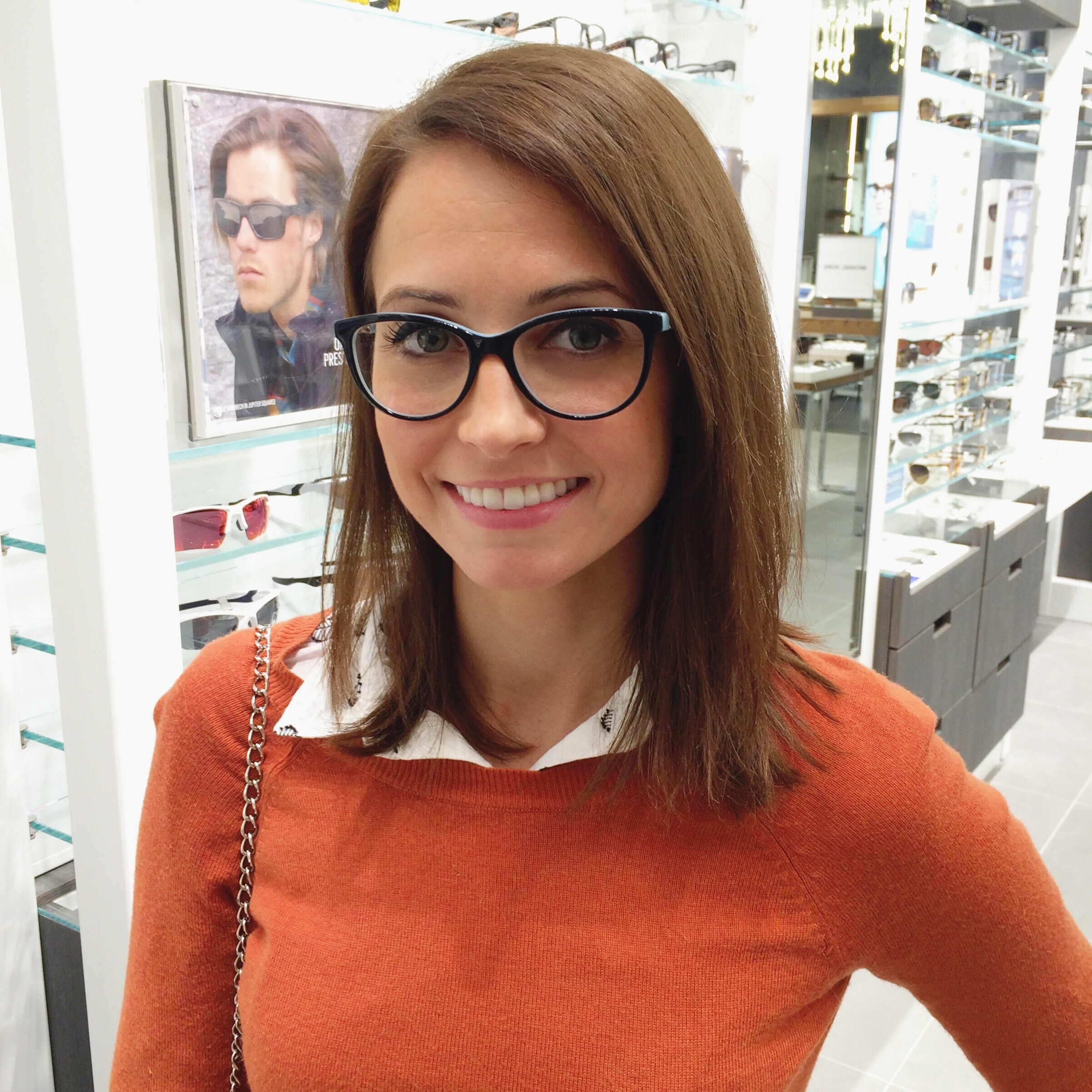 heather in tiffany & co glasses