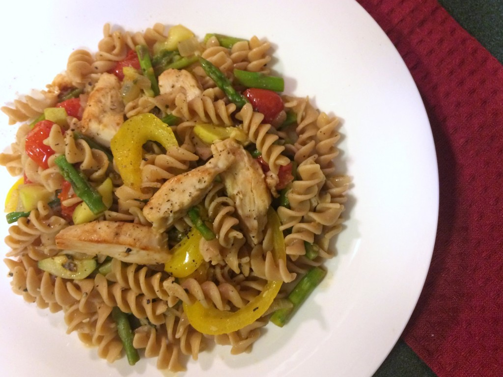 light and healthy vegetable pasta