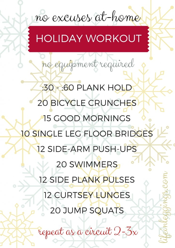 no excuses at-home bodyweight holiday workout