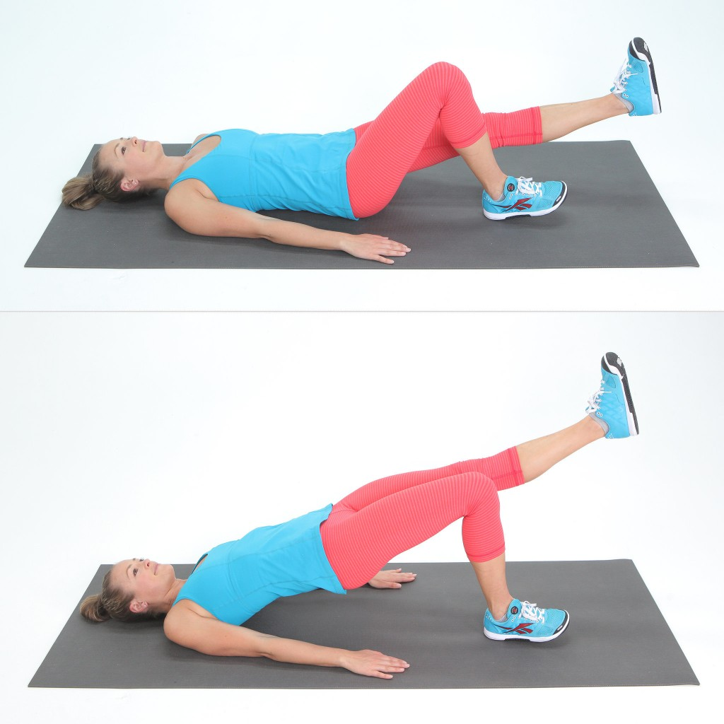 single leg bridge exercise