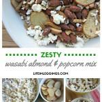 Zesty Wasabi Almond and Popcorn Mix
