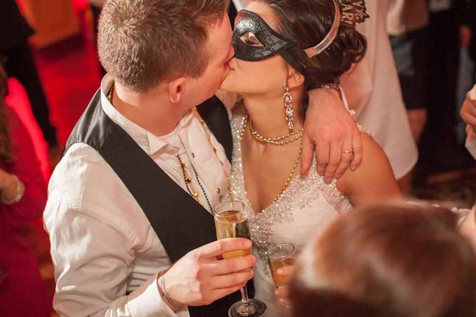 New Years Eve Wedding Kiss
